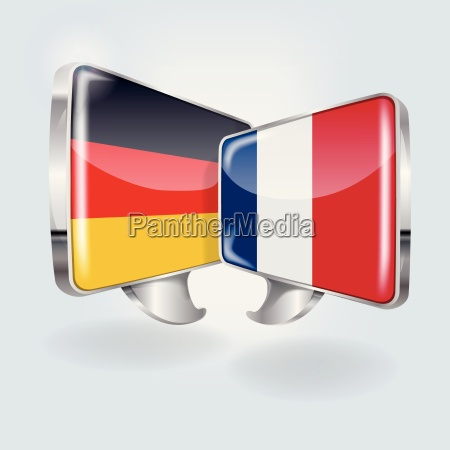 speech bubbles in german and french