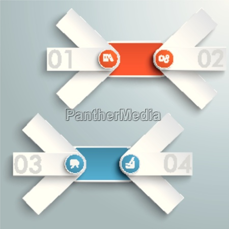 2 round triple banners colored circles