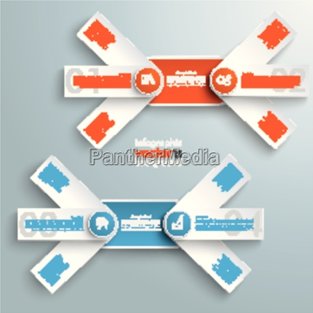 round double banners colored circles