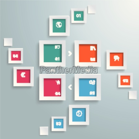 4 rectangle banners cycle flash piad