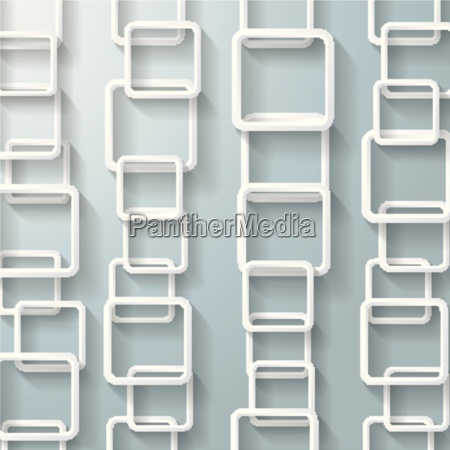 abstract white rectangle chains
