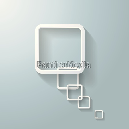 abstract white rectangle speech bubble