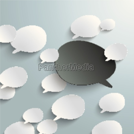 bevel speech bubbles black opinion infographic