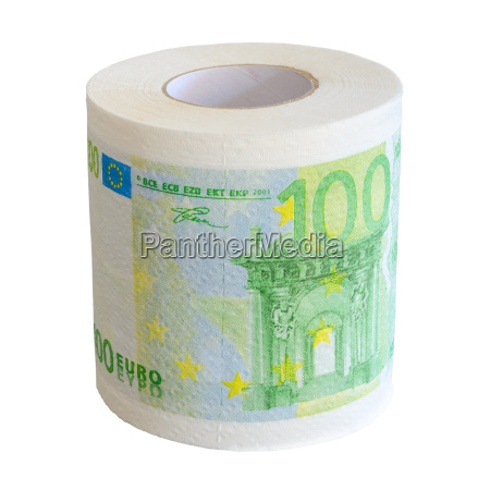 toilet paper roll of 100 euro