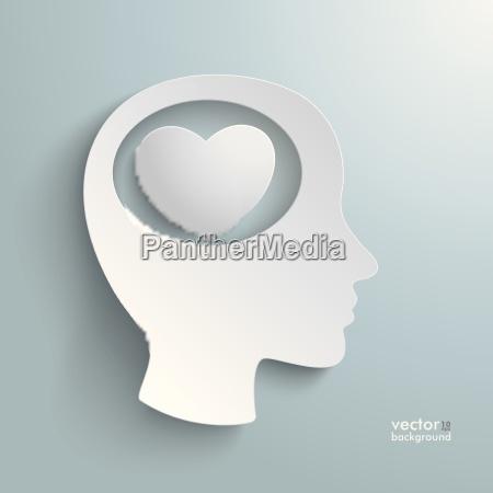 big head white heart