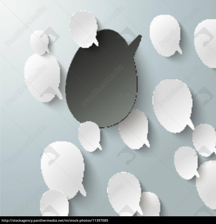 bevel, speech, bubbles, black, opinion, infographic - 11397085