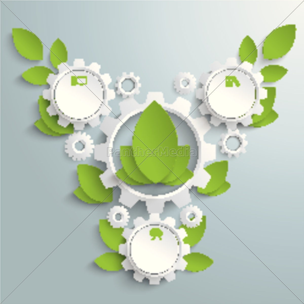 big, eco, gear, with, green, leaves - 11397121