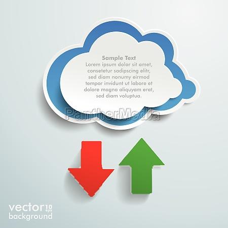 blue cloud upload download