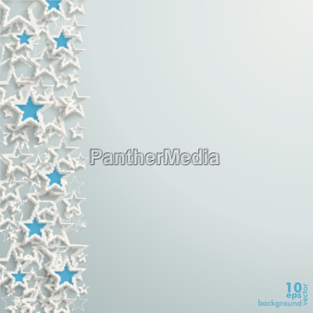 blue and white stars christmas design