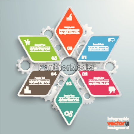 colored rhombus star industry production