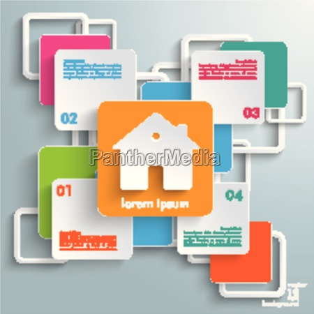 colorful rectangles squares cross house