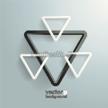 four white and black triangles background