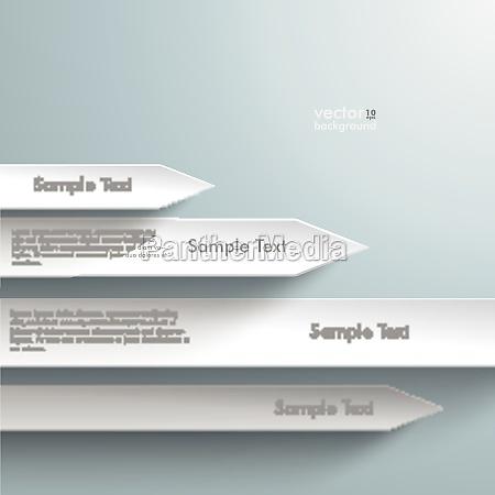 four white arrows