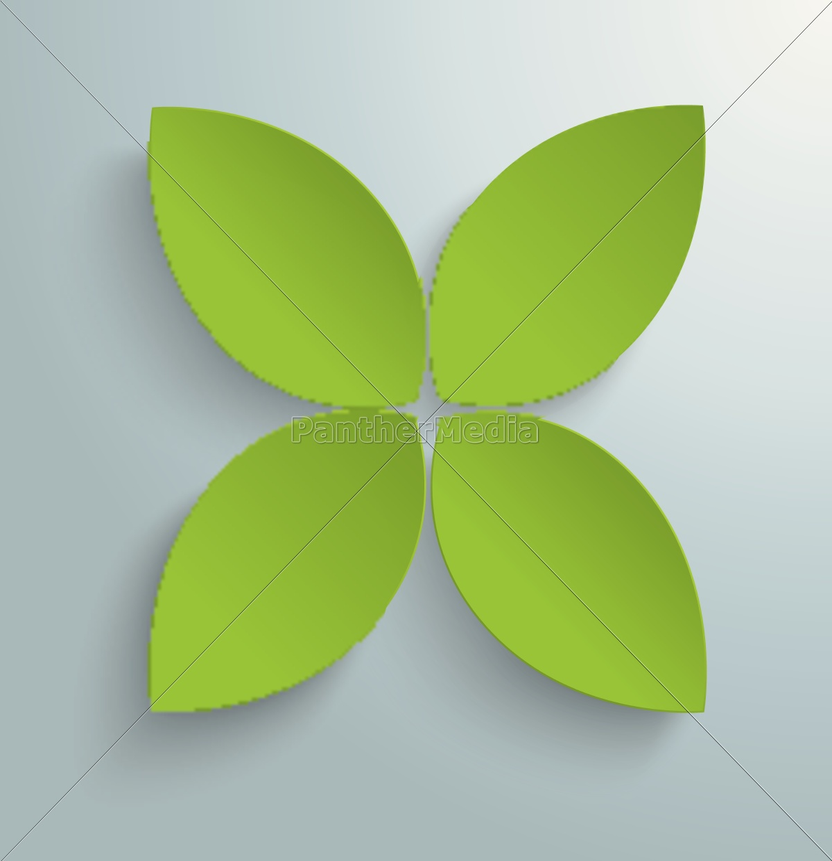 green, cross, leaves, piad - 11399726