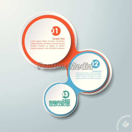 infographic colored chains white circles 3