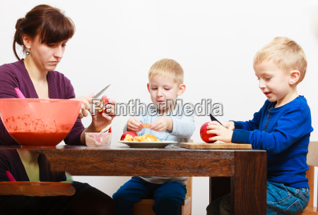 mother with sons boys children kids
