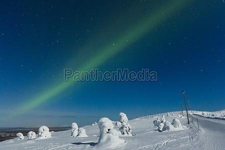 polar light aurora borealis kittilae finland