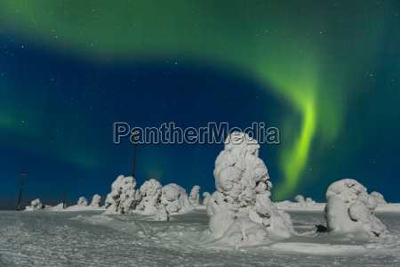 polar lights aurora borealis kittila finland