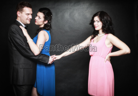 marital infidelity concept love triangle passion