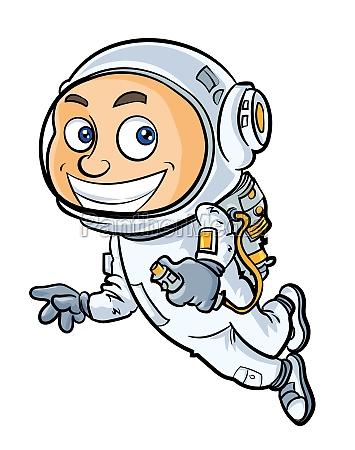 cartoon cute astronaut