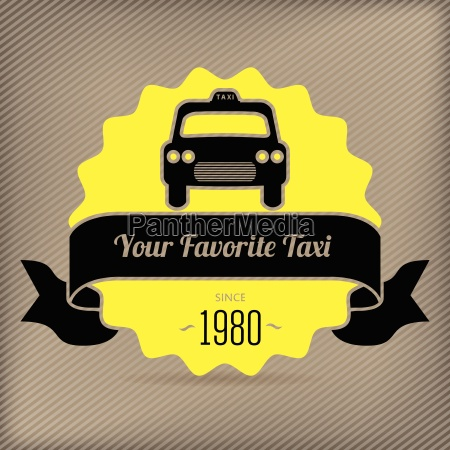 taxi badge for company promotions