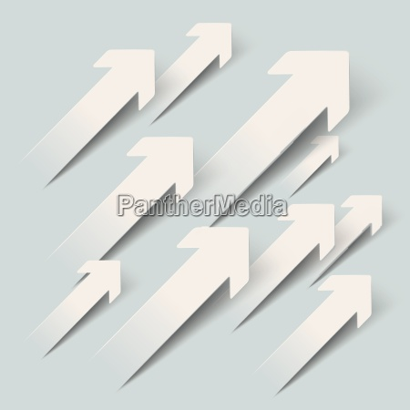 paper arrows growth piad