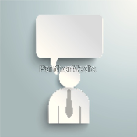 paper human speech bubble piad