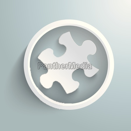 puzzle infographic white ring piad