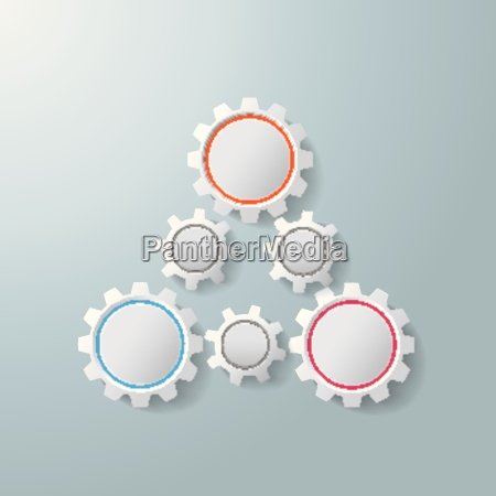 triangle gears infographic design