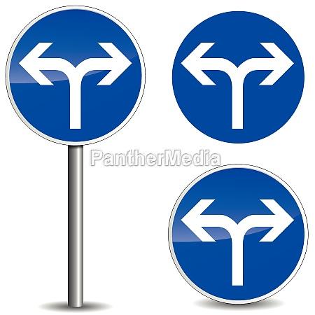 vector arrow blue sign