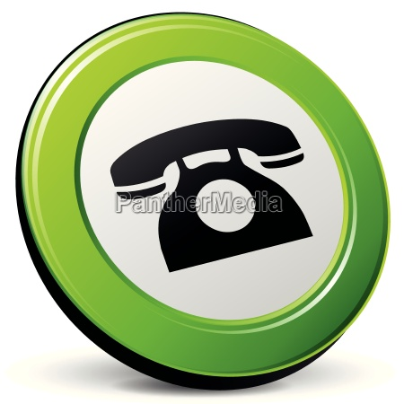 vector old phone icon 3d