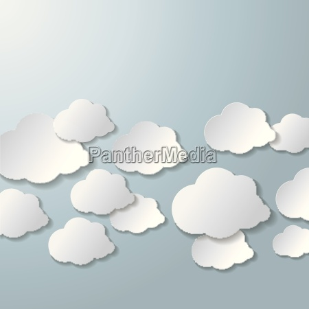white clouds grey background