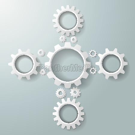 white gears cros