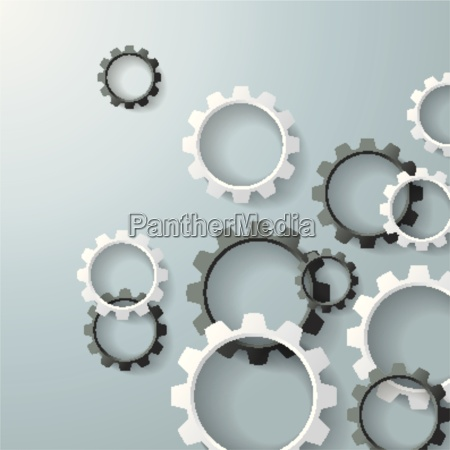 white gears black and white