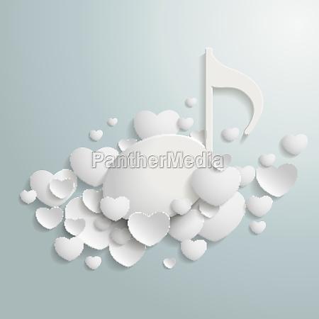 white hearts music