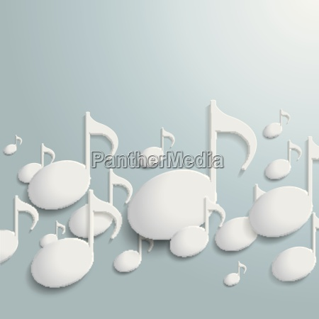 white music notes line