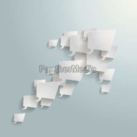 white rectangle speech bubbles arrow