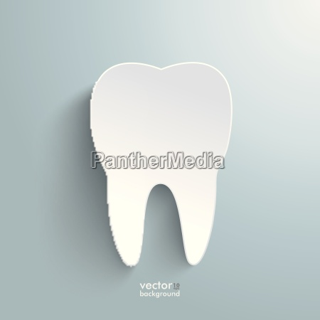 white tooth background