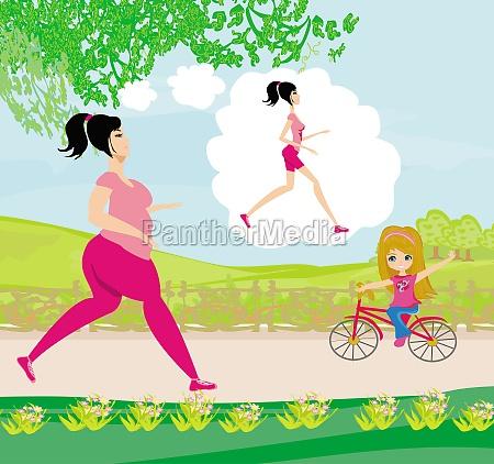 young woman jogging fat girl dreams