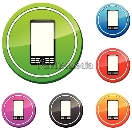 set of vector mobile icon