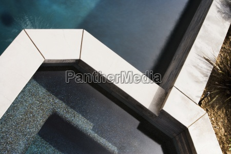 detail of modern swimming pool and