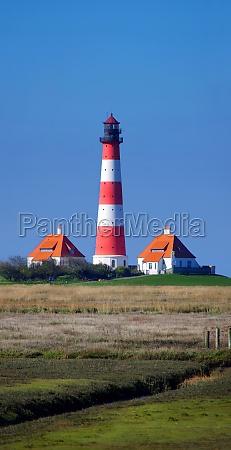 lighthouse westerhever in nordfriesland