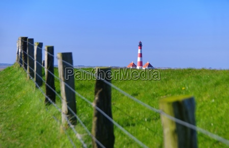 lighthouse westerhever in nordfriesland