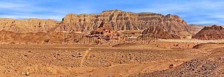 red mountains of arava desert in