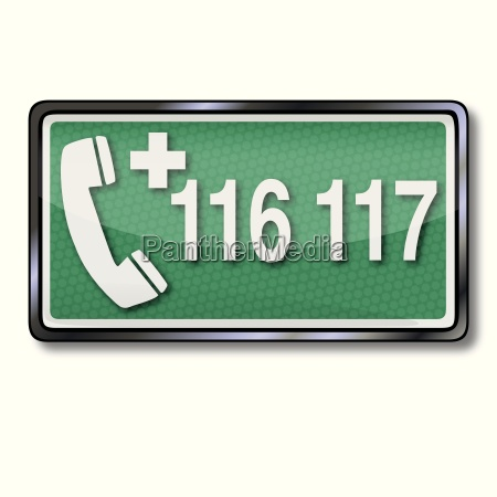 exit sign with emergency 116 117
