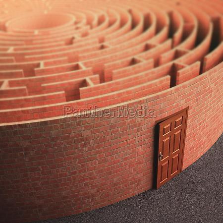 labyrinth wall