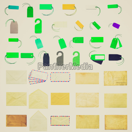 retro look stationery collage