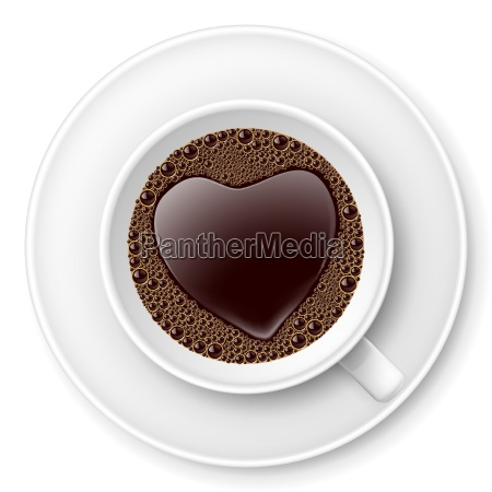coffe cup with heart image
