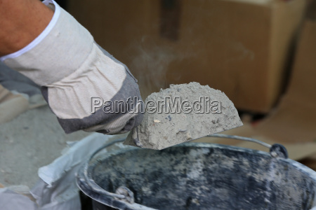 renovate with cement mortar and kelle