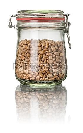 quail beans in a mason jar